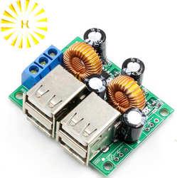 Универсальный 4USB автомобиля Авто прикуриватели мощность модуль преобразователя 4 порты usb DC зарядное устройство модуль для смартфонов