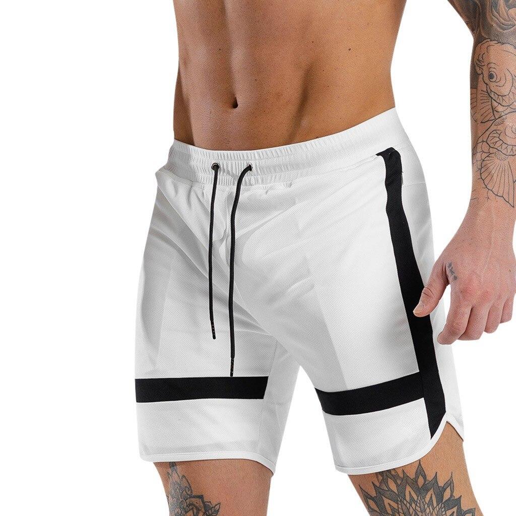 White Shorts Men Jogger Casual Mens Shorts Summer 2019 Fashion Bandage Streetwear Male Sweat Shorts Men Clothing Masculino