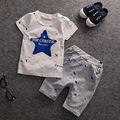 New Hot Baby Clothing Set Summer Boys 2017 Clothes Star Pattern Toddler Boys T-Shirts+BB Children Shorts Kids Clothes