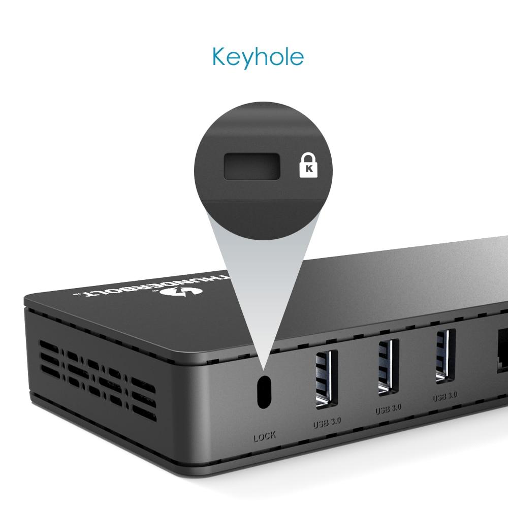Image 4 - Wavlink thunderbolt 3 docking station 4k @ 60 hz displayport usb 3.0 85 w gigabit ethernet de carregamento para macbook pro intel certificadoEstação de carga p/ laptop   -