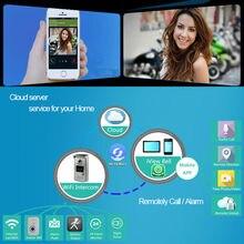 Control remoto wifi cámara IP video de la puerta del timbre del intercomunicador del teléfono de puerta abierta del teléfono celular inteligente mirilla visor timbre de puerta inalámbrico