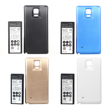 High Power Extended 6800mah Battery + Back Cover Case for Samsung Note IV Note4 N9100 N910F N910H N910