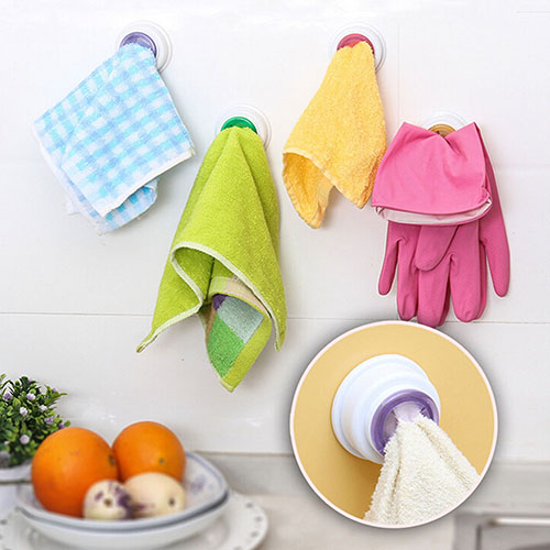 1Pc Universal Towel Clip Cleaning Cloth Rack Holder Bathroom Storage Hook