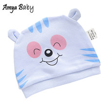 100% Cotton Cartoon Newborn Baby Hat Soft Hospital Baby Girl Boy Cap Cute Infant Boys Girls Hats(China)