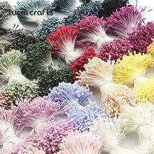 1 мм многоцветные искусственные тычинки, цветы для рукоделия, ручной работы, искусственный венок для свадебной вечеринки, домашний декор, аксессуары D0401