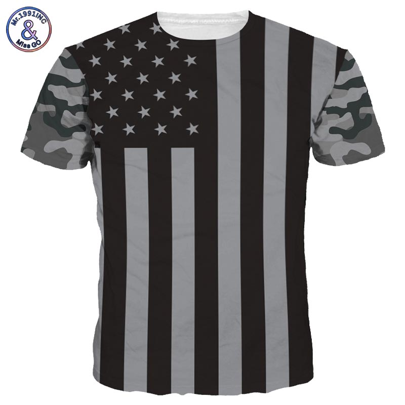 2017 Mr.1991INC New Fashion Men/Women 3d T-shirt Digital Print USA Flag Summer Tops Tees Quick Dry Tshirt