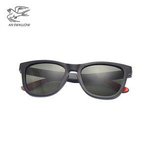 Image 2 - EINE SWALLOW MARKE DESIGN Männer Sonnenbrille Bambus Sonnenbrille Handgemachte Holz Rahmen Polarisierte Spiegel Objektiv Klassische Gafas de sol UV400