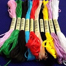 10 шт. нитки для вышивки крестом/Крест нитки для вышивания крестиком/пользовательские нитки цвета