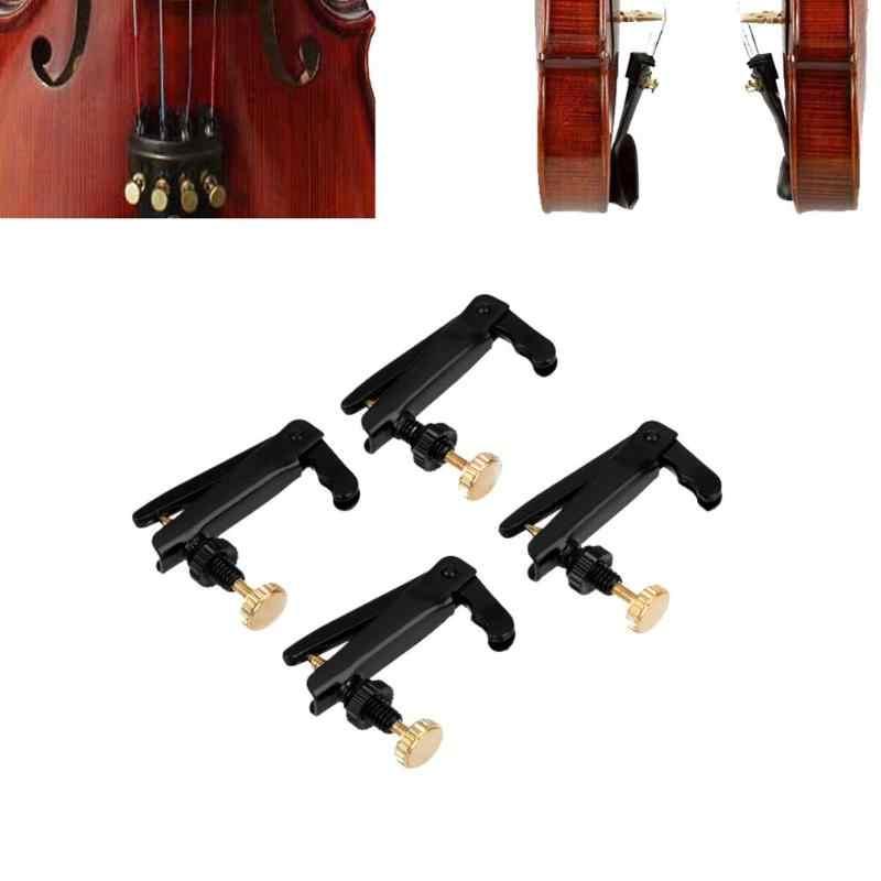 4 шт. 4/4-3/4 профессиональная скрипка применение покрытием Утюг тюнеры для скрипки Spinner Настройщик строки крючки для скрипки, музыкальных инструмент