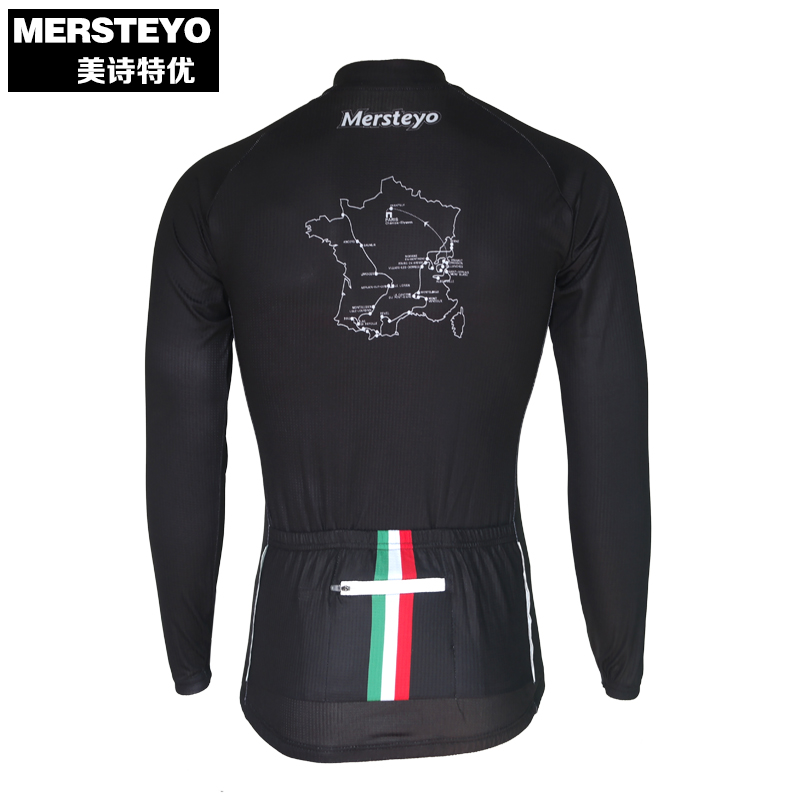 MERSTEYO Pro Men Bike jersey Long Sleeve Team Cycling clothing Cool Black Winter Male MTB Wear Ropa Ciclismo Shirts Jakets
