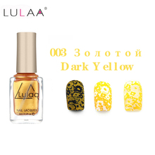 LULAA Stamp Polish 1 Bottle/LOT Nail & Art 12 Color 6ml Optional Stamping Lacquer Varnish for