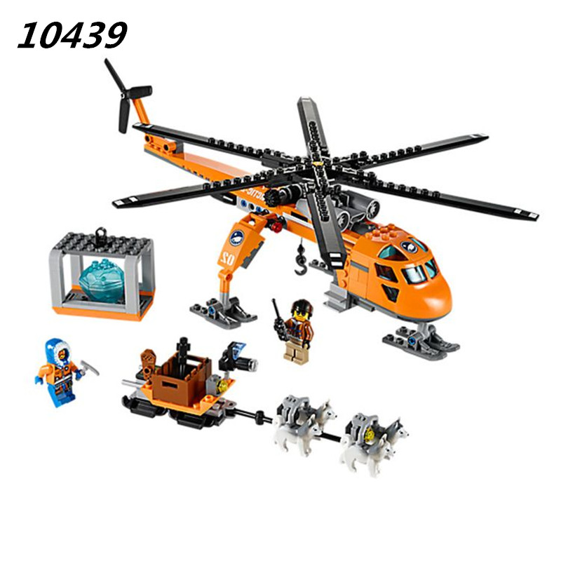2017 New AIBOULLY 10439 273pcs City Arctic Helicrane Helicopter Building block toys compatible with  toy for Chindren 60034 bela 10439 compatible lepin city arctic helicrane building blocks policeman figure toys for children girls