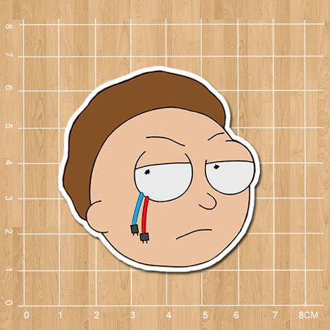 Rick and morty Evil morty waterproof pvc sticker for kids notebook diary Computer phone suitcase