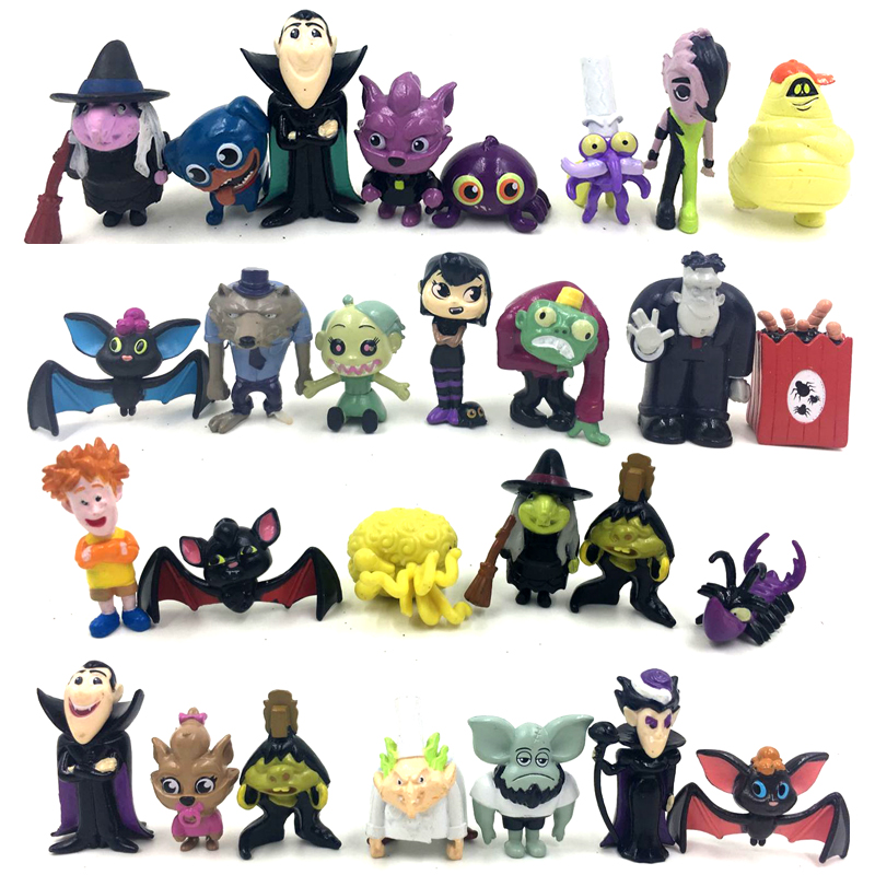1pcs/5pcs Random Send Hotel Transylvania 3 End Lucky Action Figure Set Model Toy Brinquedos Figurals Figure Toys