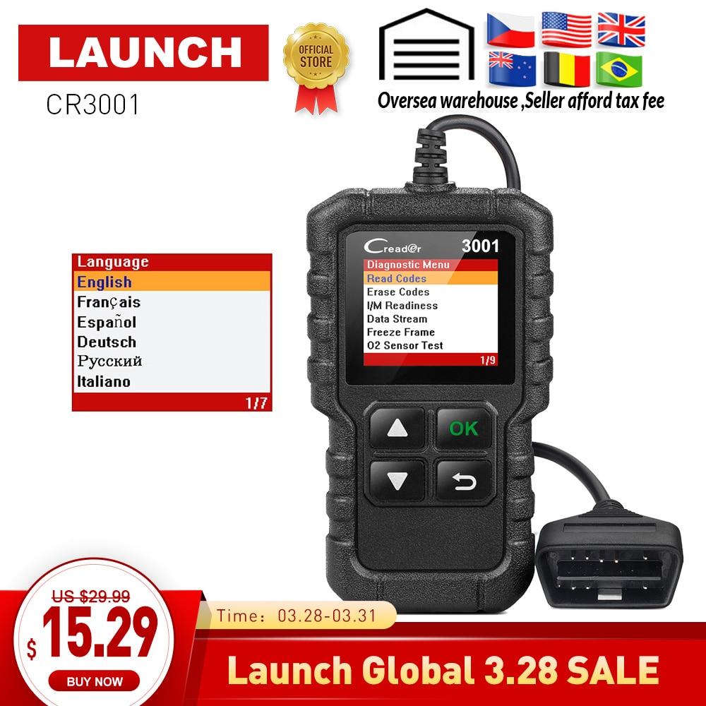 US $18 89 37% OFF|LAUNCH X431 Creader 3001 Full OBD2 OBDII Code Reader Scan  tools CR3001 OBDII Car Diagnostic tool PK AD310 ELM327 OM123 Scanner-in