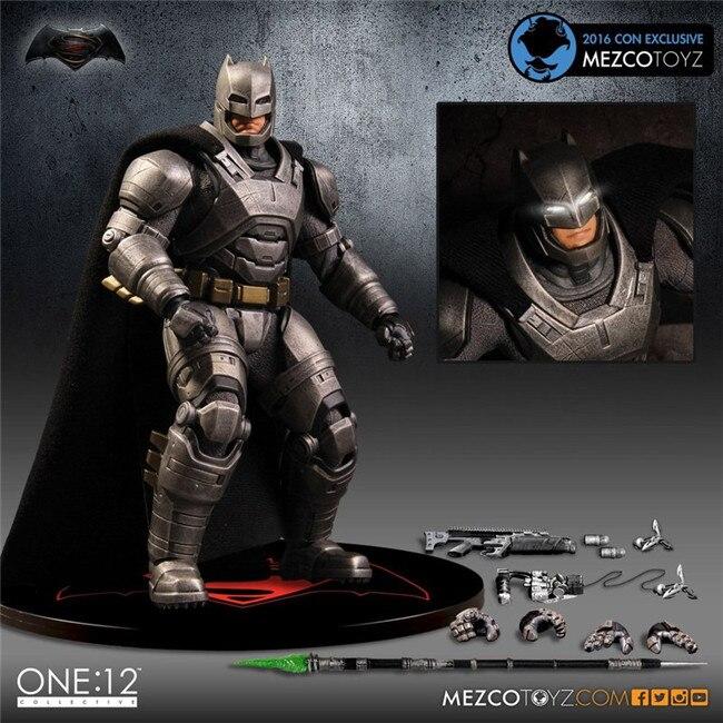 SAINTGI 1pcs Superman V Batman Heavy armor Justice League Gray CRAZY TOY Dark Knight Marvel Rises Avengers Super Hero PVC 16cm batman фигурка superman armor blast