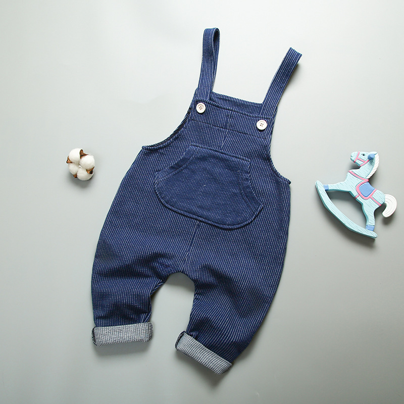 2017 New Casual Spring Autumn Kids Boys girls Overalls Jumpsuits For Toddler Bib Pants