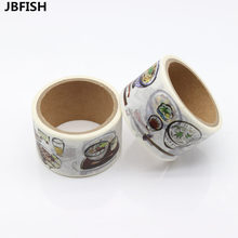JBFISH Food Washi Paper Tape 3cm 5m Decorative Crafting Scraping Paper Adhesive Masking Tape 9005
