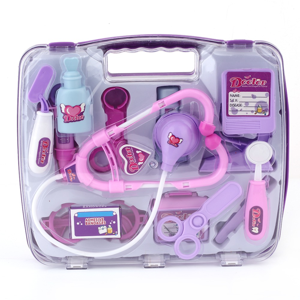 Christmas Kids Educational Pretend Doctor Case Toy Set Child Medical Kit Doctor Case Juguetes Nurse Roleplay Toy Set Gifts