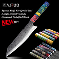 XITUO 8 дюймов нож Кливер японский Дамаск Нержавеющая Сталь PRO кухонные инструменты шеф-повар кухонный нож Дамаск мясо лосось нарезка k