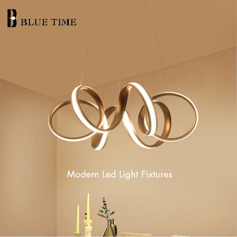 Golden Body LED Chandelier Lighting For Bedroom Living Room Dining Room Study Room Modern Home LED Chandeliers Input AC 220V110VGolden Body LED Chandelier Lighting For Bedroom Living Room Dining Room Study Room Modern Home LED Chandeliers Input AC 220V110V