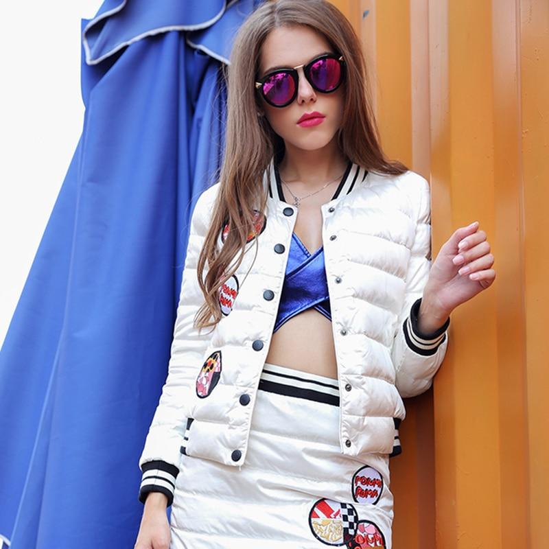 Collar Stand Femmes Designs White Patch Manteau Lettre Q753 Haute Hiver Mode Qualité Down Jacket Automne Paraks Casual Femme 2018 n1HSXqxq8