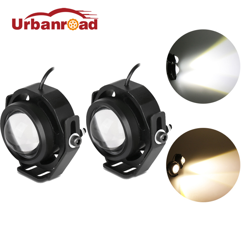 Urbanroad 1Pc 10W 12v Led Eagle Eye Light Led Lamp Eagle Eye Car Headlight Fog Lights Waterproof DRL Daytime For Motorcycle Auto leadtops car led lens fog light eye refit fish fog lamp hawk eagle eye daytime running lights 12v automobile for audi ae