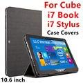 Case para el cubo i7 libro elegante protector protector de la cubierta de cuero de la tableta PC Para El CUBO Iwork i7 stylus PU Manga 10.6 Casos pulgadas Cubierta