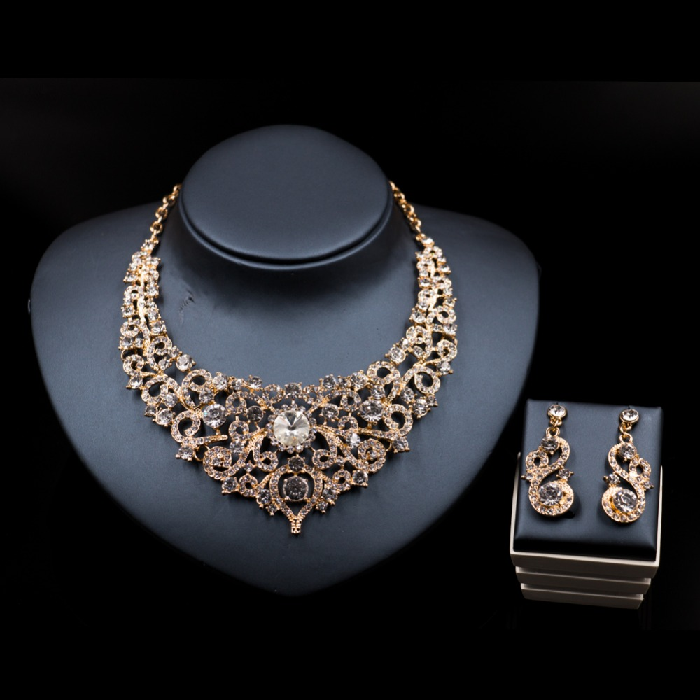 LAN PALACE coral beads necklace jewelry bridal ensemble bijoux femme necklace and earrings crystal jewelry sets free shipping