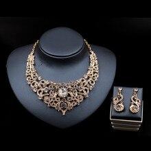 LAN PALAIS corail perles collier bijoux ensemble de mariée bijoux femme collier et boucles d'oreilles ensembles de bijoux en cristal livraison gratuite