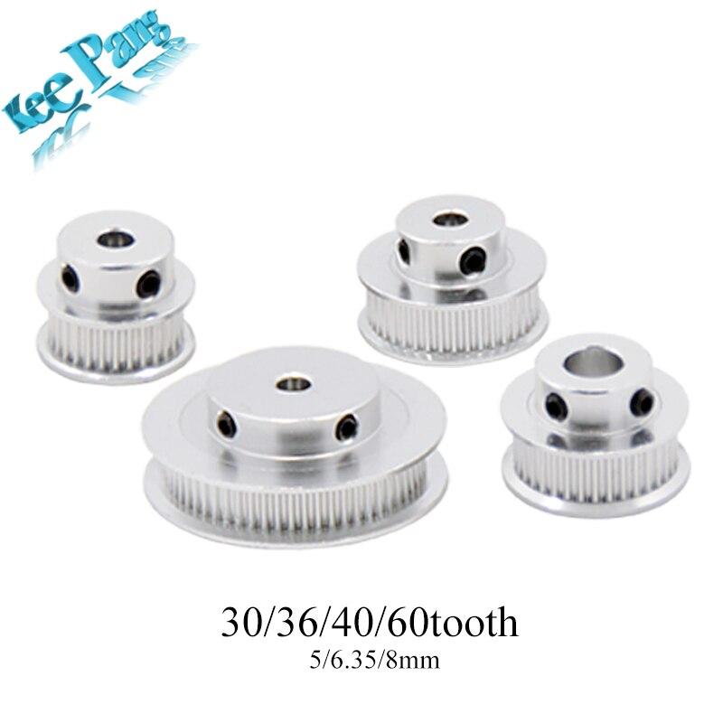 gt2-timing-pulleys-30-36-40-60-tooth-2gt-wheel-parts-bore-5mm-8mm-aluminium-gear-teeth-width-6mm-10mm-3d-printers-part-kingroon