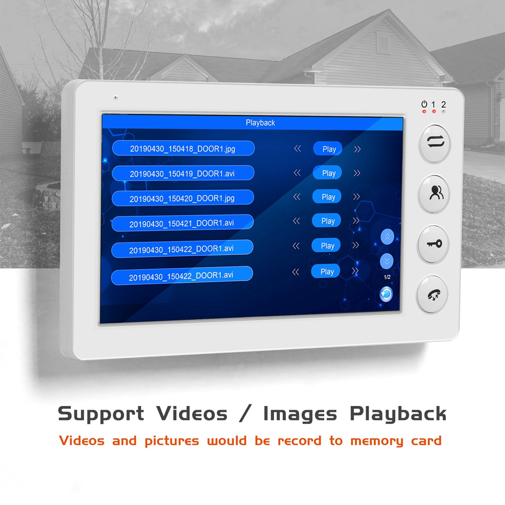 Image 3 - 960P HD Video Door phone Intercom for Home intercom system Support Motion Detect Record 32GB SD Card  Wired 7inch video Doorbell-in Video Intercom from Security & Protection