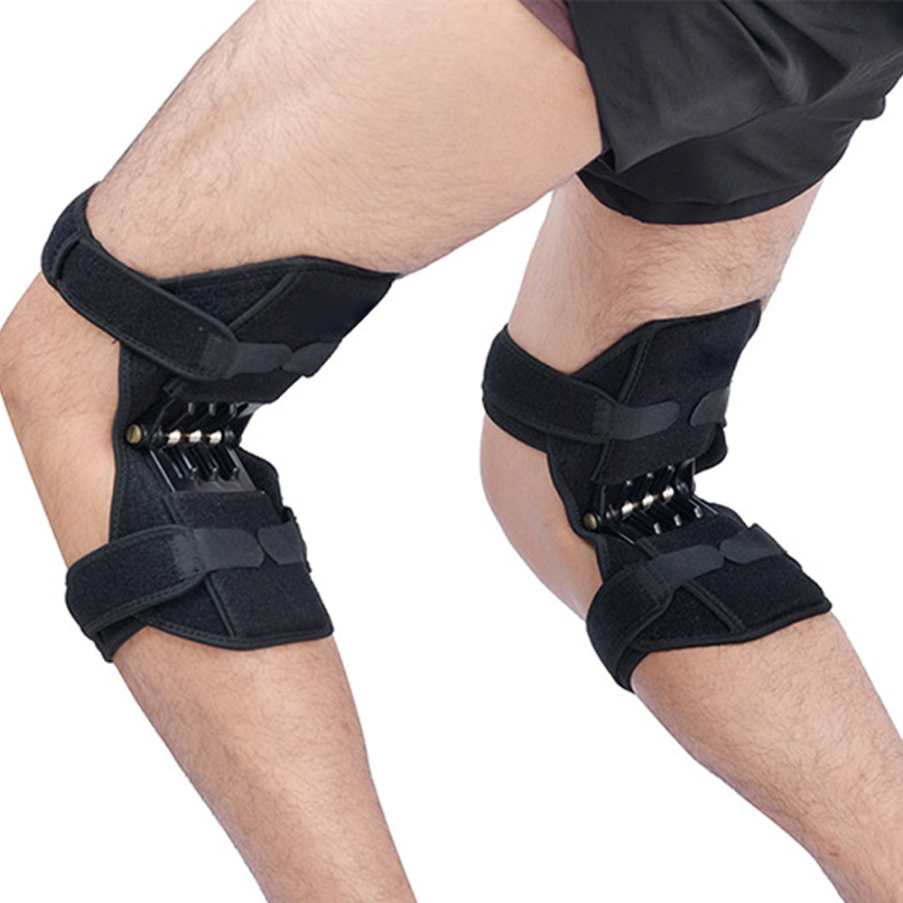 1 Pair Sport Spring Knee Strap Mountain Climbing Running Knee Booster Knee Pad Knee Joint Protection Kneecare Pad-in Elbow & Knee Pads from Sports & Entertainment    1