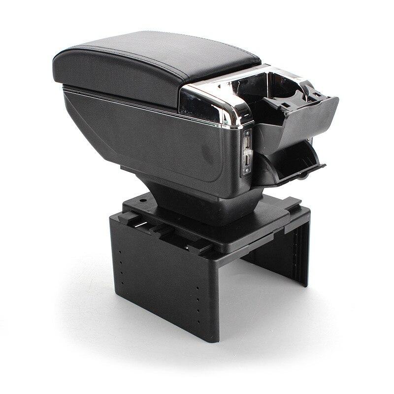 ユニバーサルカー中央容器アームレストボックス pu レザーオートカースタイリング中央ストアコンテンツボックスカップホルダーアクセサリー