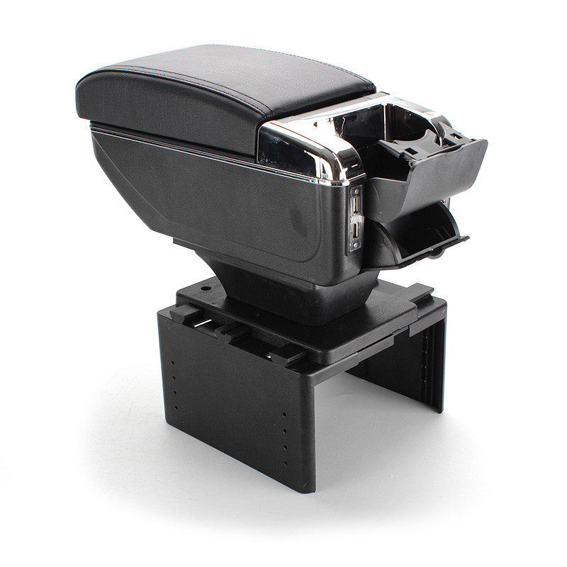 Caja de reposabrazos universal para el coche, de cuero PU, para el coche, accesorios para el soporte de la taza de la tienda central