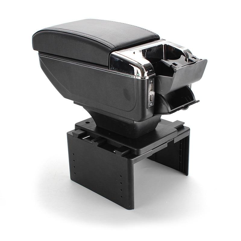 Universal carro recipiente central caixa de apoio de braço de couro do plutônio carro-estilo central loja conteúdo caixa titular de copo acessórios