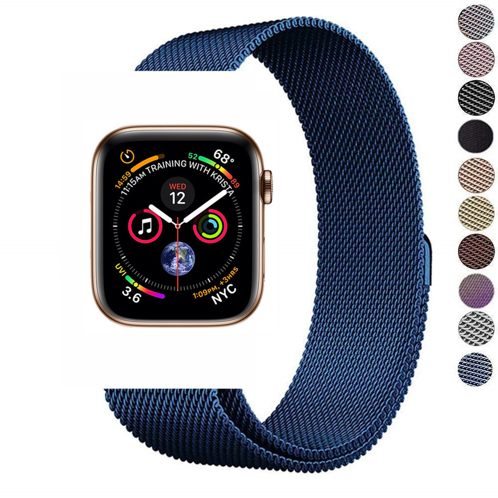Stainless steel band accessories for apple watch 40mm 44mm iwatch series 4 3 2 1 38mm 42mm milanese loop strap bracelet wrist so buy for apple watch series 3 2 1 watchbands 38mm belt 42mm stainless steel bracelet milanese loop strap for iwatch metal band