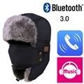 2017 Осень Зима Теплая Шапочка Шляпу Wireless Bluetooth Смарт Крышка Гарнитура Наушники Микрофон Динамик Bluetooth Hat