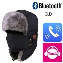 2017 Autumn Winter Warm Beanie Hat Wireless Bluetooth Smart Cap Headset Headphone font b Speaker b