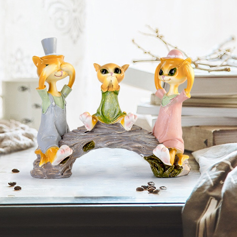 Home decorations for creative childrens rooms Living room cabinets of wine cab statues sculpture Home wedding decoration dies