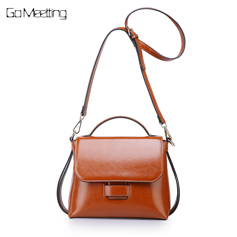 Go Meetting Women Crossbody Bag Tote Genuine Leather Female Messenger Shoulder Bag High Quality Cow Leather Handbag sac a main hot brand design fashion genuine leather high quality women large messenger bag tote shoulder bag sac a main mujer