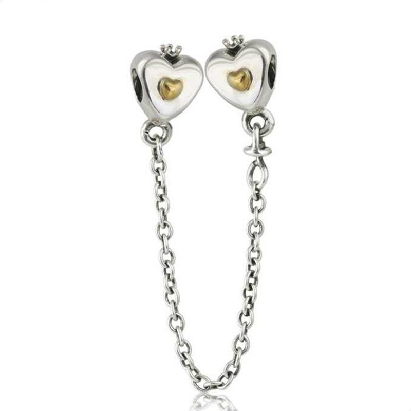 pandora heart 14k & silver charm