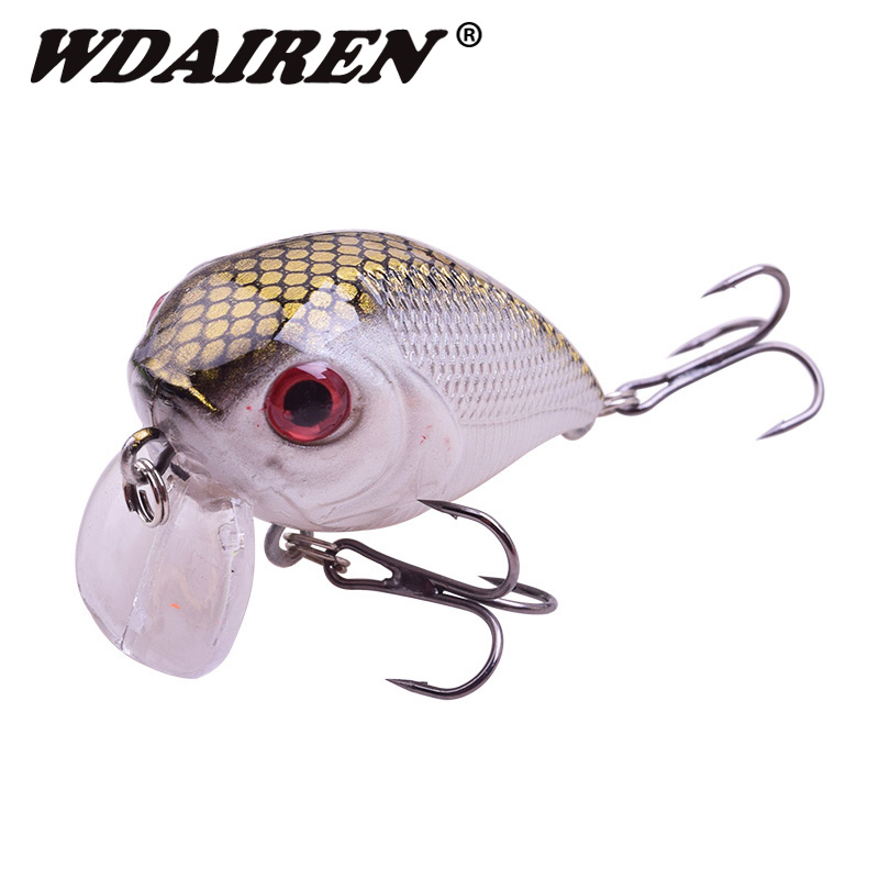 1Pcs Mini crank fishing lure 5cm 7g Chubby Spinner Topwater bait Crankbait 3D Eyes Hard baits bass Water Minnows Fishing tackle fishing topwater floating popper poper lure 6 high carbon steel hooks crank baits tackle tool 6 5cm 13g fishing tackle zb203