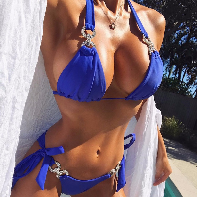Sexy women Crystal bikini Rhinestone swimwear female brazilian biquini micro bikinis swimsuit tiny bathing suit for beach wearSexy women Crystal bikini Rhinestone swimwear female brazilian biquini micro bikinis swimsuit tiny bathing suit for beach wear