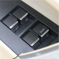 Car Window Lift Switch Sticker Door Button Interior Chrome Trim Cover Decoration Accessories Suitable For Toyota
