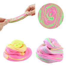 Dynamic Mixed Color Fluffy Slime