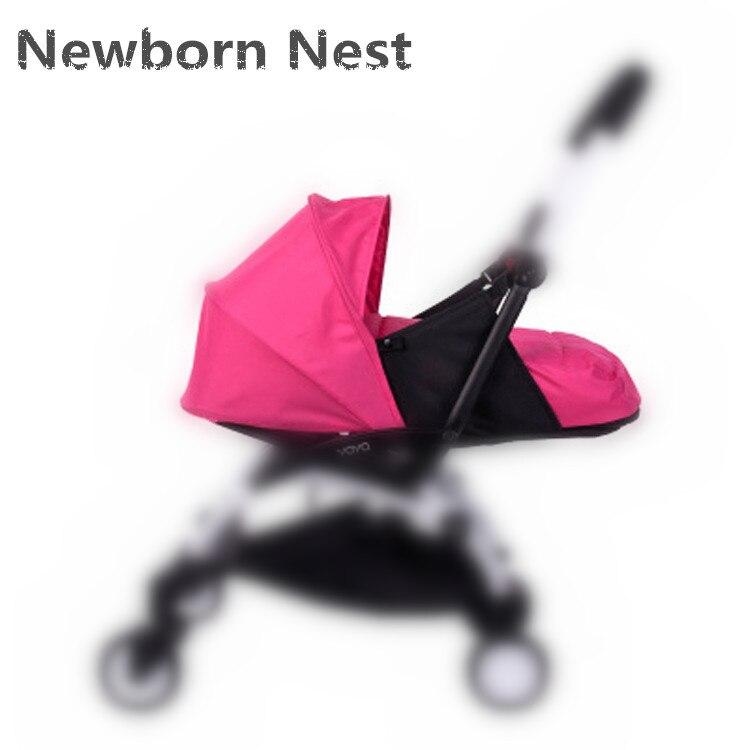Bébé poussette naissance nid nouveau-né sac de couchage poussette accessoires pour Babyzen yoyo + Yoya Babytime calèches hiver panier