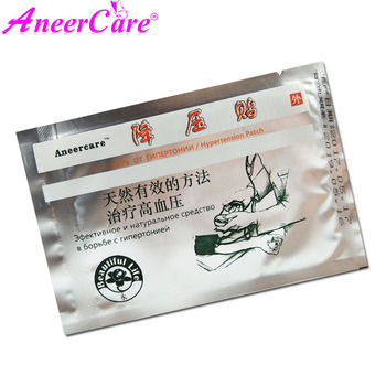 10 Pcs Aneercare Chinese Natural Herbs Plaster Massage Reduce High Blood Pressure Treatment Blood Glucose Clean Blood Vessel