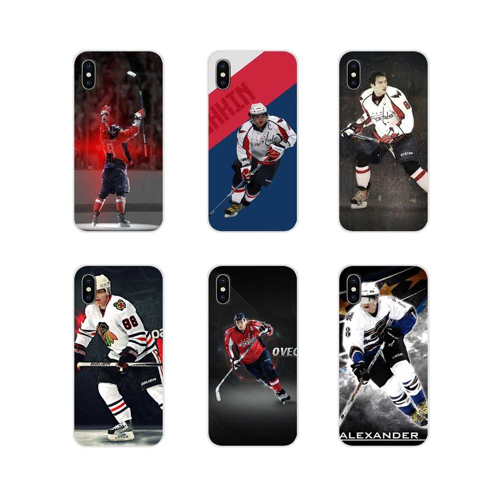 สำหรับ Apple iPhone X XR XS MAX 4 4 S 5 S 5C SE 6 6 S 7 8 plus ipod touch 5 6 ซิลิโคน Alexander Ovechkin Nhl Star Hockey