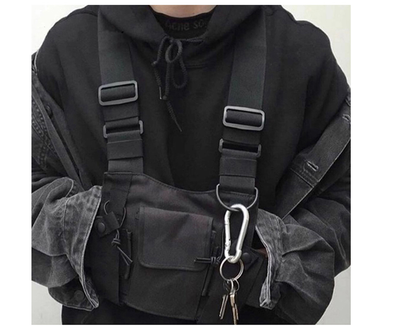 HTB1TQupJVzqK1RjSZFoq6zfcXXaU - adjustable Black Vest Hip Hop Streetwear Functional Tactical Harness Chest Rig Kanye West Waist Pack Chest Bag Fashion Nylon c5